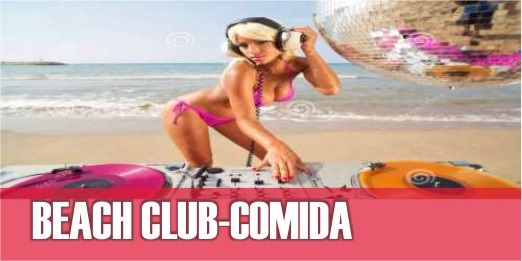 Comida beach club party