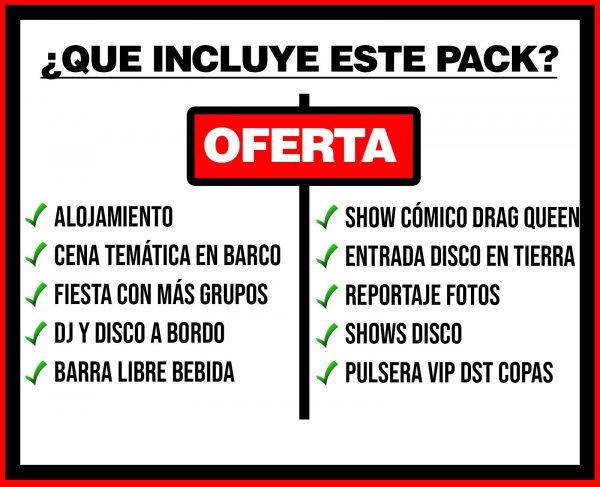 PACK 2 ALOJAMIENTO + BARCO FESTIVAL + DISCO