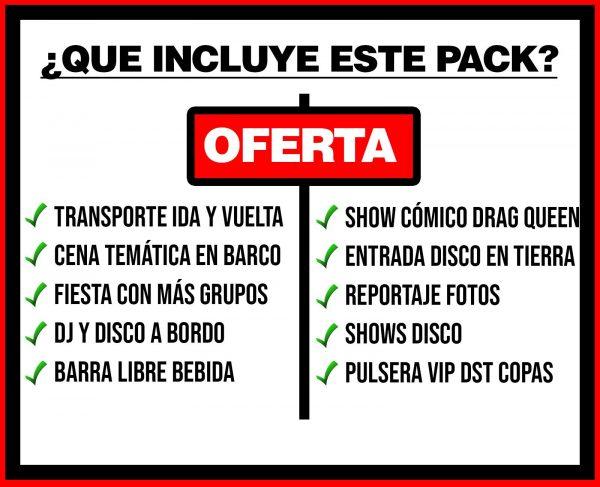 PACK 3 TRANSPORTE + BARCO FESTIVAL + DISCO