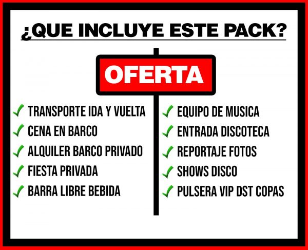 PACK 3 TRANSPORTE + BARCO PRIVADO + DISCO