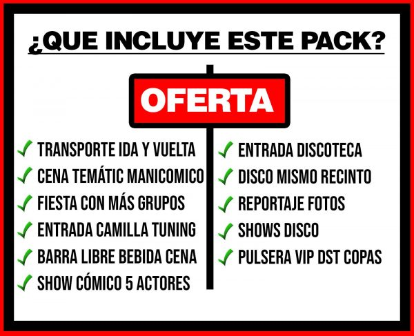 PACK 3 TRANSPORTE + MANICOMICO + DISCO