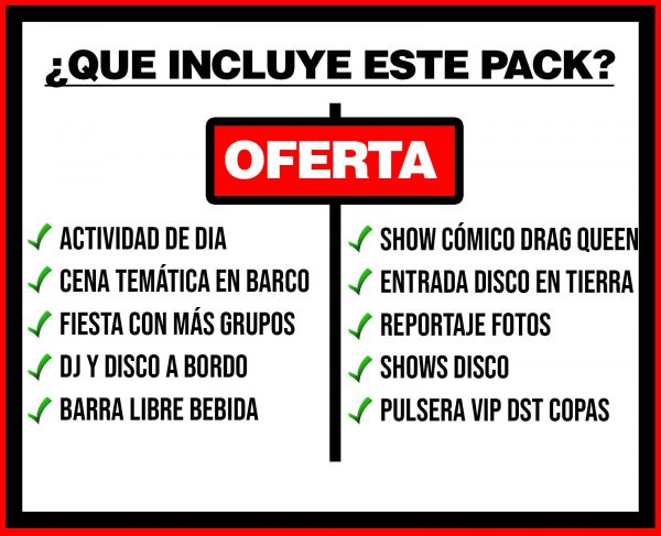 PACK 4 ACTIVIDAD DE DÍA + BARCO FESTIVAL + DISCO